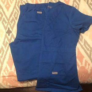 Royal Blue Greys Anatomy Scrubs